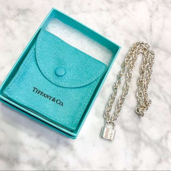 abea0a815 Tiffany & Co 1837 Padlock Lock Charm Necklace. M_5a99bd222ae12fa0e8803a34